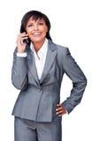 Hispanic businesswoman on phone Royalty Free Stock Photo