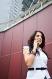 Hispanic businesswoman on the phone Royalty Free Stock Image