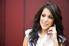 Hispanic businesswoman on the phone Royalty Free Stock Images