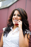 Hispanic businesswoman on the phone Stock Photography