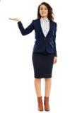 Hispanic businesswoman presenting a product Royalty Free Stock Photo