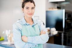 Hispanic Cafe Owner royalty free stock photo