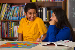 Hispanic Child Having Fun in Class Stock Photos