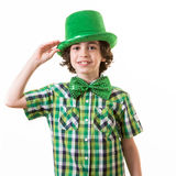 Hispanic Child Having Fun during St. Patricks Day Royalty Free Stock Images
