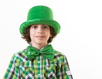 Hispanic Child Having Fun during St. Patricks Day Stock Photos