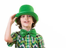Hispanic Child Having Fun during St. Patricks Day Royalty Free Stock Photos