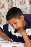 Hispanic Child Reading Stock Photos