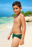 Hispanic child on a tropical beach Stock Photography