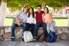 Hispanic college students Royalty Free Stock Photo