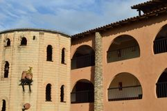 Hispanic colonial building Royalty Free Stock Photography