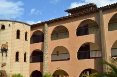 Hispanic colonial building Stock Images