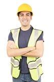 Hispanic costruction worker stock photography