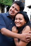 Hispanic couple. A Young Hispanic couple embrace Royalty Free Stock Images