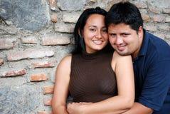 Hispanic couple. A Young Hispanic couple embrace Royalty Free Stock Image