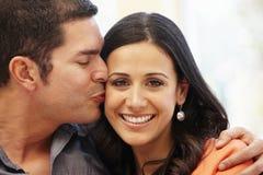 Hispanic couple at home Royalty Free Stock Photo