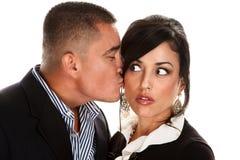 Hispanic Couple Kissing Royalty Free Stock Photos