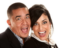Hispanic Couple Laughing Stock Image