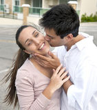 Hispanic couple in love royalty free stock photography