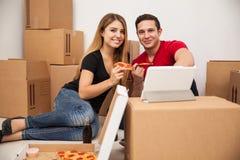 Hispanic couple moving Stock Photo