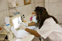 Hispanic  dentist Royalty Free Stock Photography