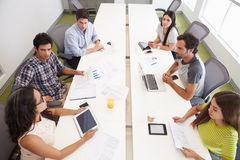 Hispanic Designers Meeting To Discuss New Ideas Stock Photo