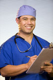 Hispanic Doctor in the Office Royalty Free Stock Photography