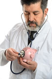 Hispanic Doctor Using Stethoscope Royalty Free Stock Photography