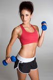 Hispanic Exercising Woman Royalty Free Stock Image