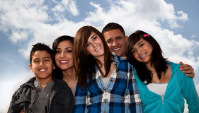 Hispanic Family royalty free stock image