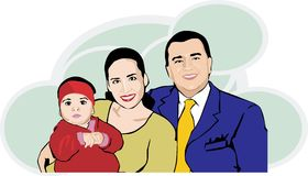 Hispanic family Stock Photography