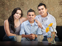 Hispanic Family of Three Royalty Free Stock Photos