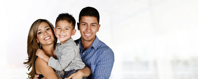 Hispanic Family Together Stock Photography