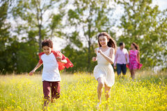 Hispanic Family Walking In Countryside Royalty Free Stock Photography
