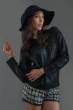 Hispanic fashion model posing at studio Stock Photos