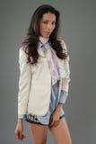 Hispanic fashion model posing at studio Royalty Free Stock Photo