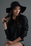Hispanic fashion model posing at studio Stock Image