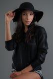 Hispanic fashion model posing at studio Royalty Free Stock Images