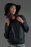 Hispanic fashion model posing at studio Royalty Free Stock Image