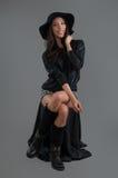 Hispanic fashion model posing at studio Royalty Free Stock Photography