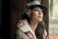Hispanic Fashion Woman Stock Images