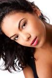 Hispanic female beauty face royalty free stock photos
