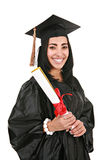 Hispanic Female College Graduate Portrait Stock Photos