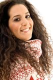 Hispanic female laughing and looking at camera Stock Photography