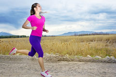 Hispanic Female Runner Royalty Free Stock Images