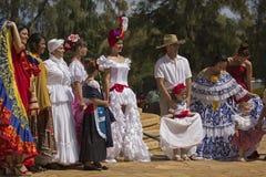 Hispanic Fiesta Fashions Stock Images