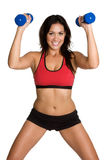 Hispanic Fitness Woman. Beautiful hispanic fitness woman exercising Stock Photos