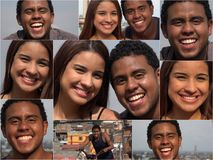 Hispanic Friends And Dating Collage. A Hispanic Friends And Dating Collage Stock Photos