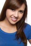 Hispanic Girl. Pretty smiling hispanic girl headshot Stock Photo