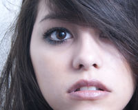 Hispanic girl. A close up portrait of a latin young woman Royalty Free Stock Image