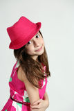 Hispanic girl in hat Royalty Free Stock Photography